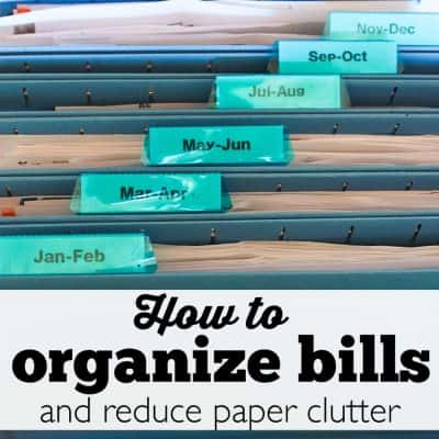How to Organize Bills and Reduce Paper Clutter