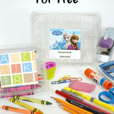 How to Organize Homework Supplies for Free