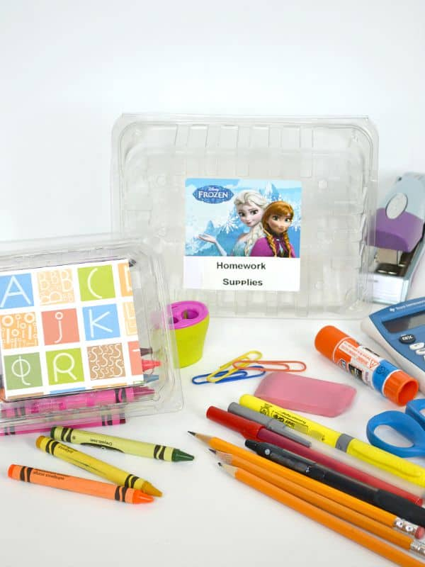 Organize homework supplies for free.