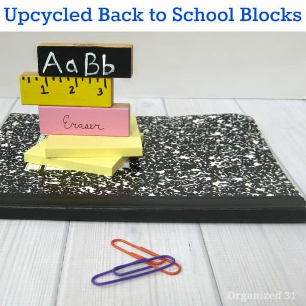 Upcycled back to school craft from Organized 31