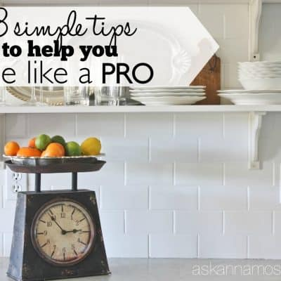 Subway Tile Kitchen Wall & Tips for making it an EASY job