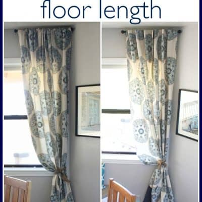 A No-Sew way to Make Short Drapes Floor Length