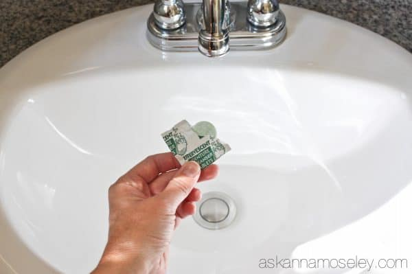 How To Clean The Gunk Around The Sink Drain Ask Anna