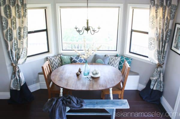 A no-sew way to make short drapes floor lenght - Ask Anna