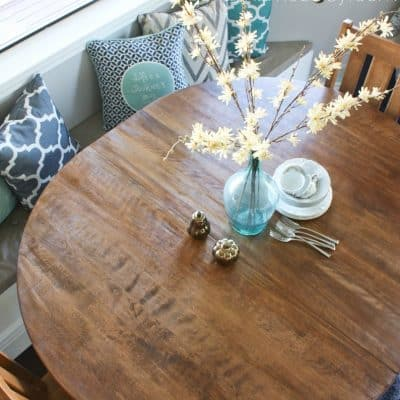Breakfast Nook Table Makeover & a BIG Giveaway!!!