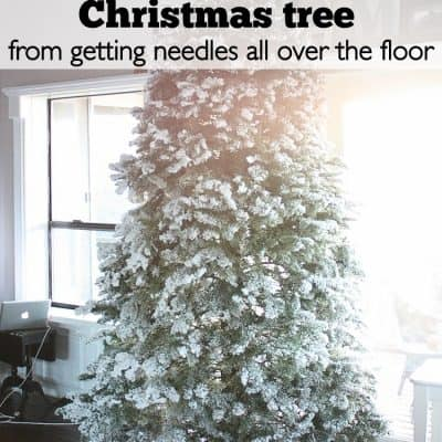 Christmas Tree Clean Up (a Cleaning Hack)