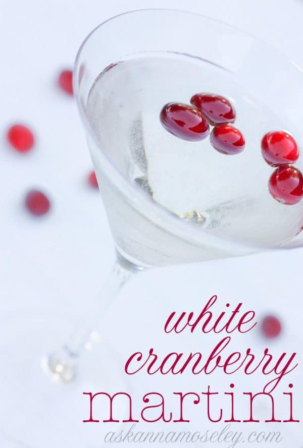 White cranberry martini and a round-up of Fall and Winter's best cocktial - Ask Anna