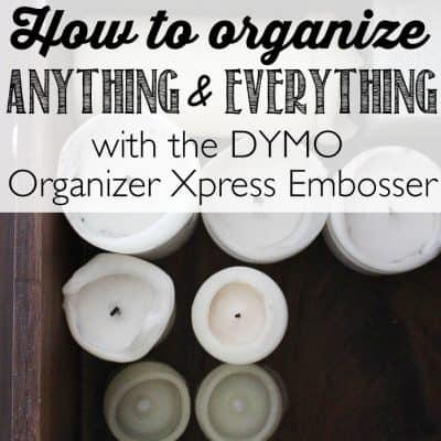 Storage Dresser Organization with the DYMO Organizer Xpress