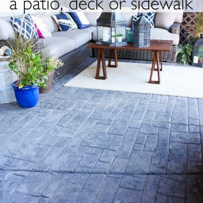The Easiest Way to Clean a Deck or Patio *video tutorial*