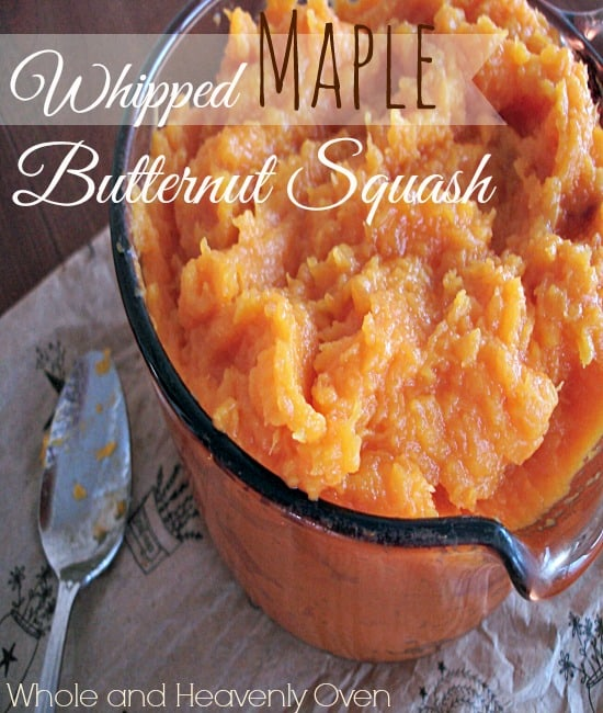 Whipped maple butternut squash, the perfect side dish for every Thanksgiving feast