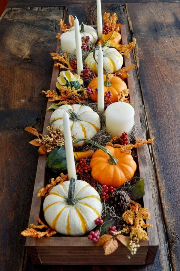 A collection of the most beautiful and creative Fall and Thanksgiving centerpieces, perfect for your holiday table - Ask Anna