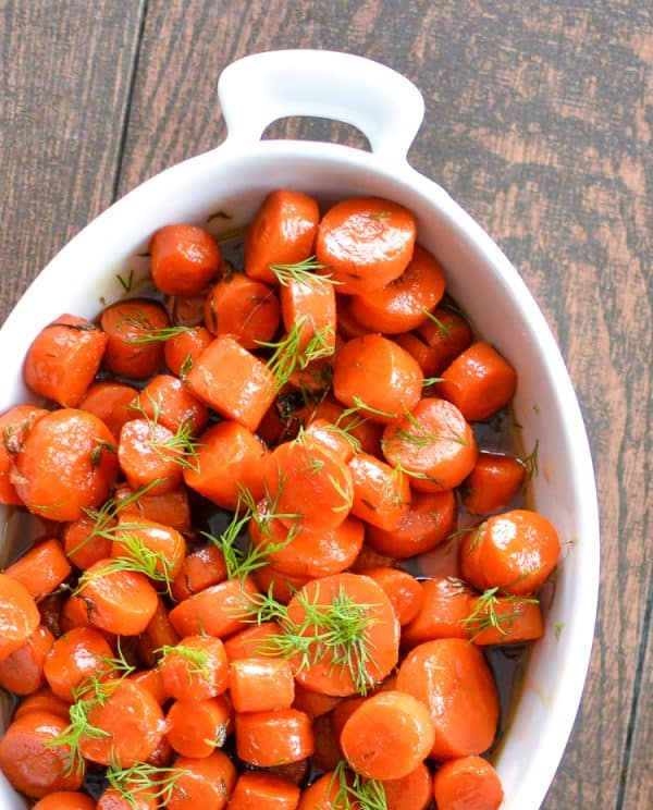 Bourbon maple glazed carrots, the perfect side dish for every Thanksgiving feast