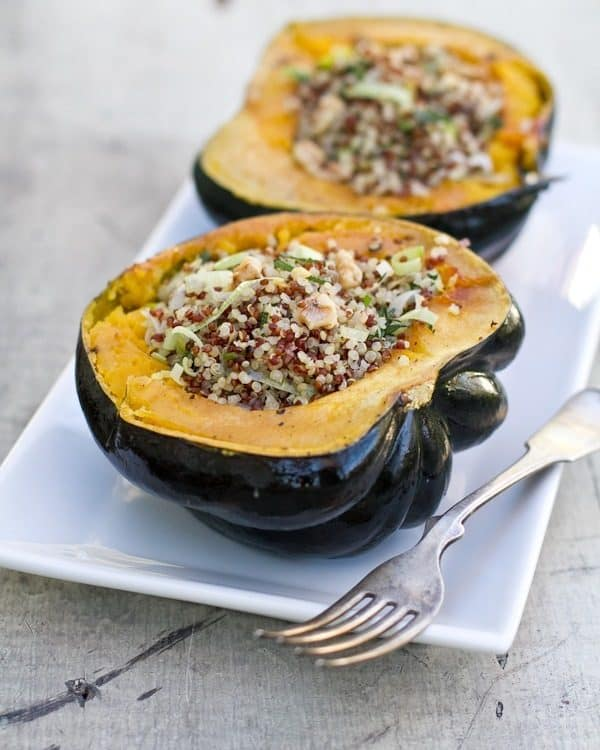 Stuffed acorn squash, the perfect side dish for every Thanksgiving feast