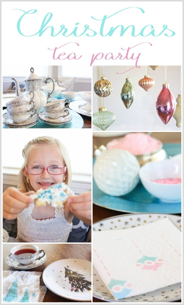 Christmas tea party with vintage flair | Ask Anna