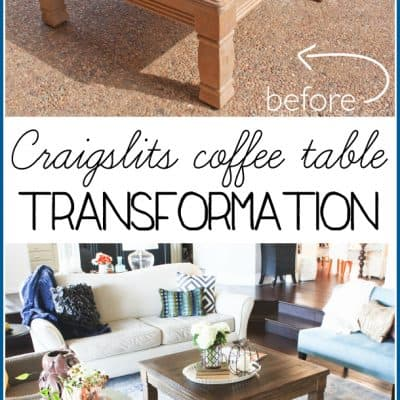 Coffee Table Makeover – Goodbye 80's