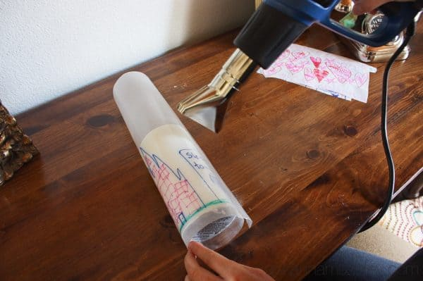 A simple tutorial showing you how to create your own decorated candles. This is a perfect gift idea for grandmas, teachers or friends! | Ask Anna