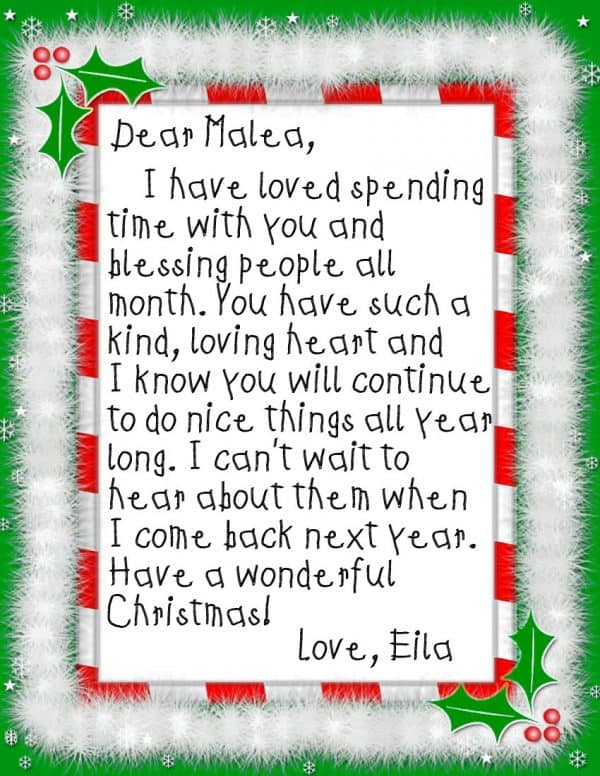 Elf on the Shelf 24 Days of Kindness Ask Anna