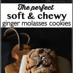 These are the most perfect, soft and chewy, ginger molasses cookies. Your family will love them and you'll be shocked at how quickly they disappear! | Ask Anna