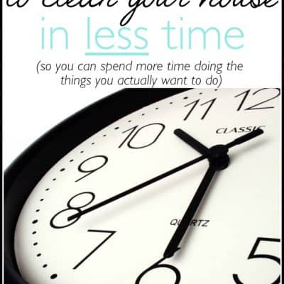 5 Tips to Clean your House in Less Time!