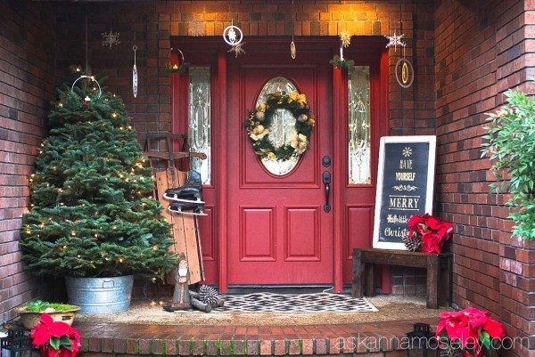 Christmas front porch | Ask Anna