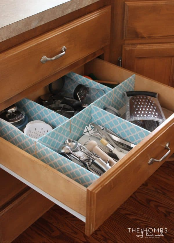How to organize your kitchen utensils in 30 min or less with these custom DIY dividers | Ask Anna