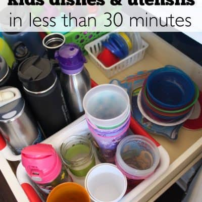 How to Organize Kids Dishes in Less than 30 minutes