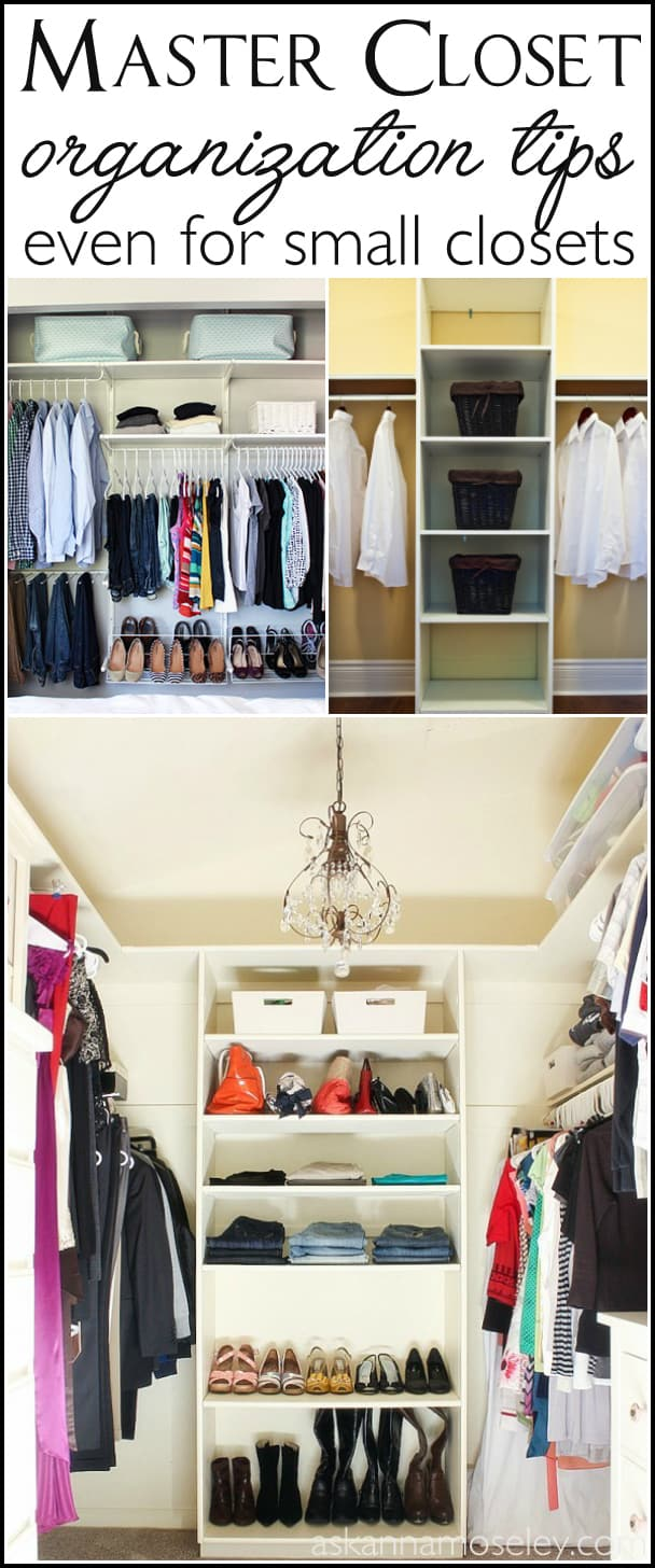 How to Organize the Master Bedroom Closet (No matter the size ...