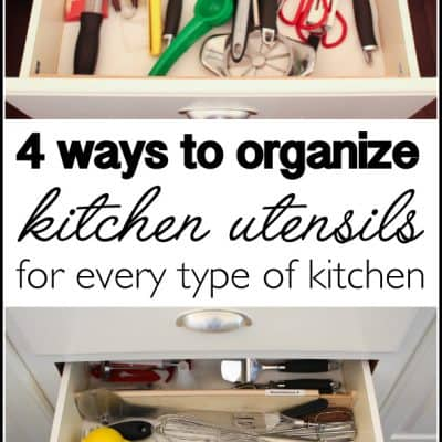 How to Organize Kitchen Utensils in 30 min or Less!