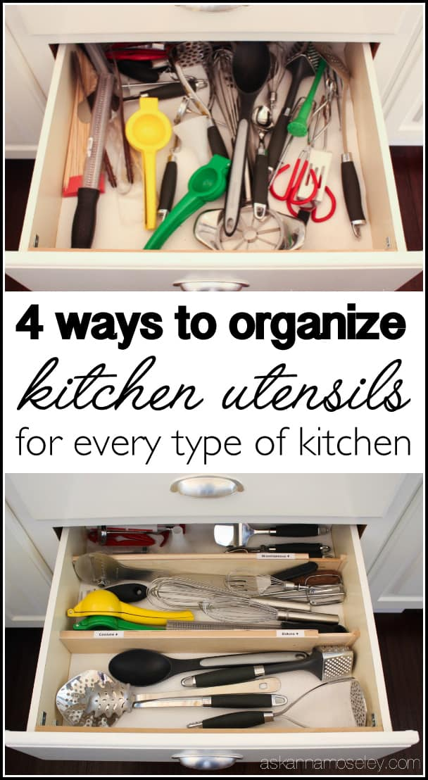 How to Organize Kitchen Utensils in 30 min or Less! - Ask Anna