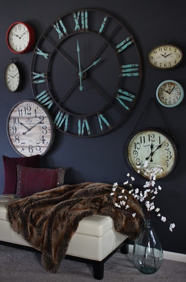 Create a statement wall using clocks | Ask Anna