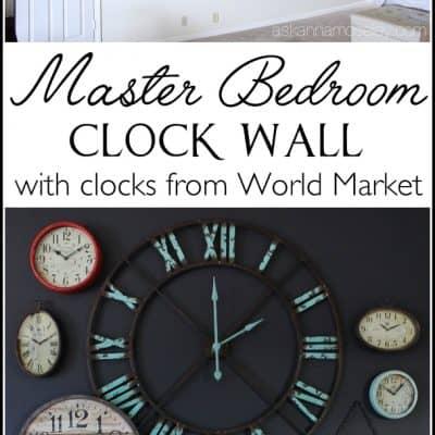 My Clock Wall – a Mini Bedroom Revamp