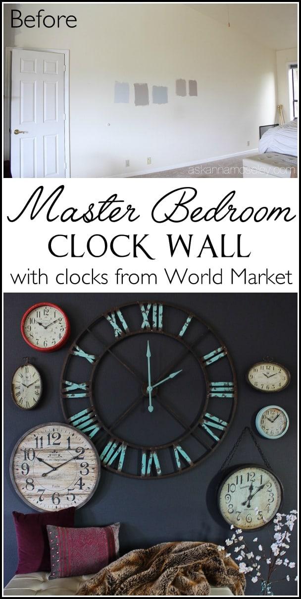 My Clock Wall A Mini Bedroom Revamp Ask Anna