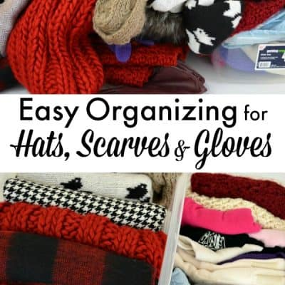 Easy Organization for Hats, Scarves and Gloves