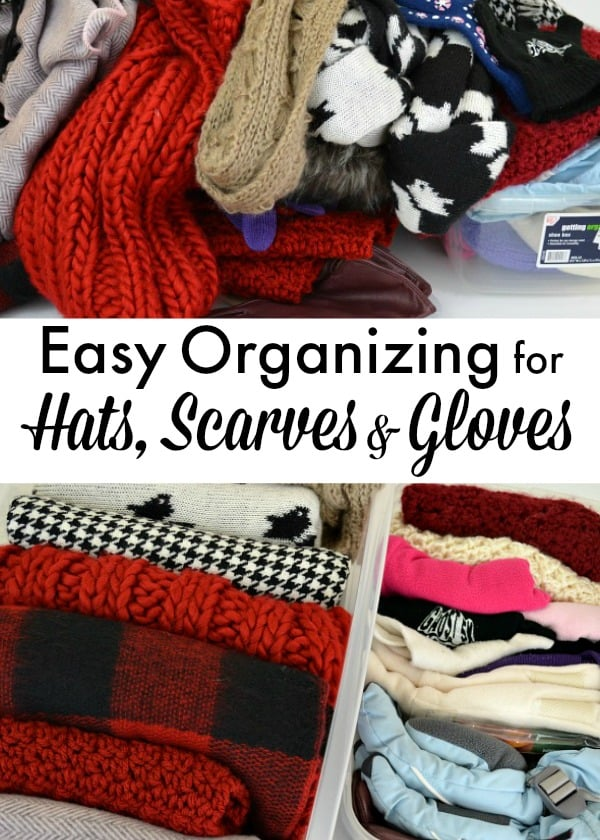 A quick and easy tip to organize hats, scarves and gloves. All you need is a few minutes!