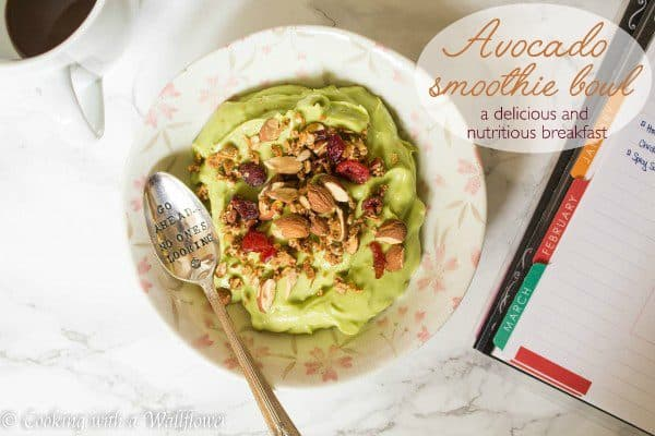 Avocado Smoothie Bowl with Almonds and Granola   Cooking with a Wallflower