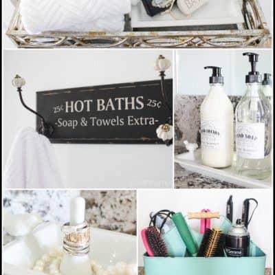 Guest Bathroom Organization on a Budget