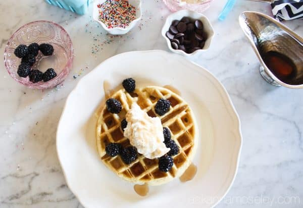 How to set up a waffle bar for National Waffle Day | Ask Anna
