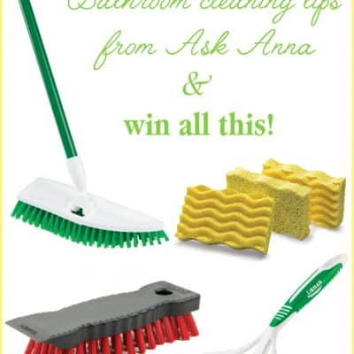 Bathroom Cleaning Tips & a BIG Giveaway from Libman