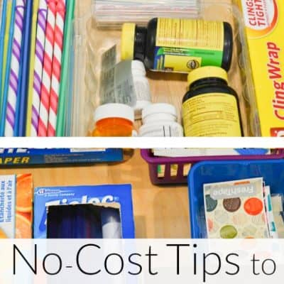 No-Cost Organizing Kitchen Drawer Tips