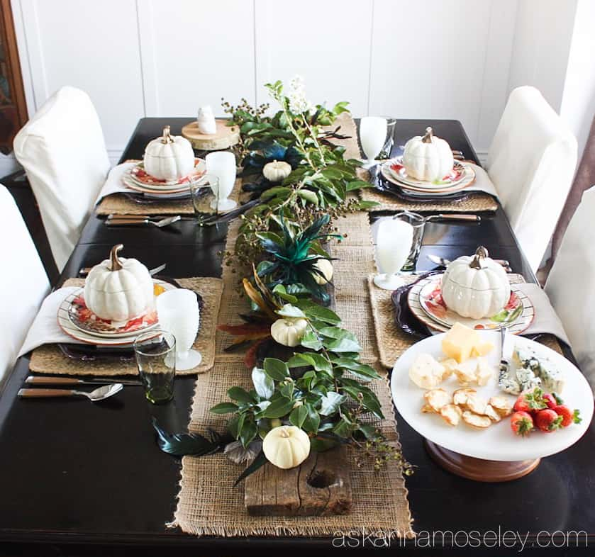 Simple and elegant Fall tablescape (you wonu0027t believe how affordable it was too & Elegant and Affordable Fall Table Setting - Ask Anna