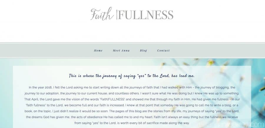 Faith|Fullness - a new blog venturing into the heart of the Lord and what it looks like to follow Him | Ask Anna