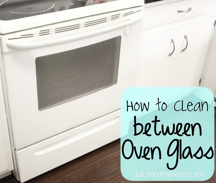 A full tutorial for how to clean between the oven glass, without taking off the glass | Ask Anna