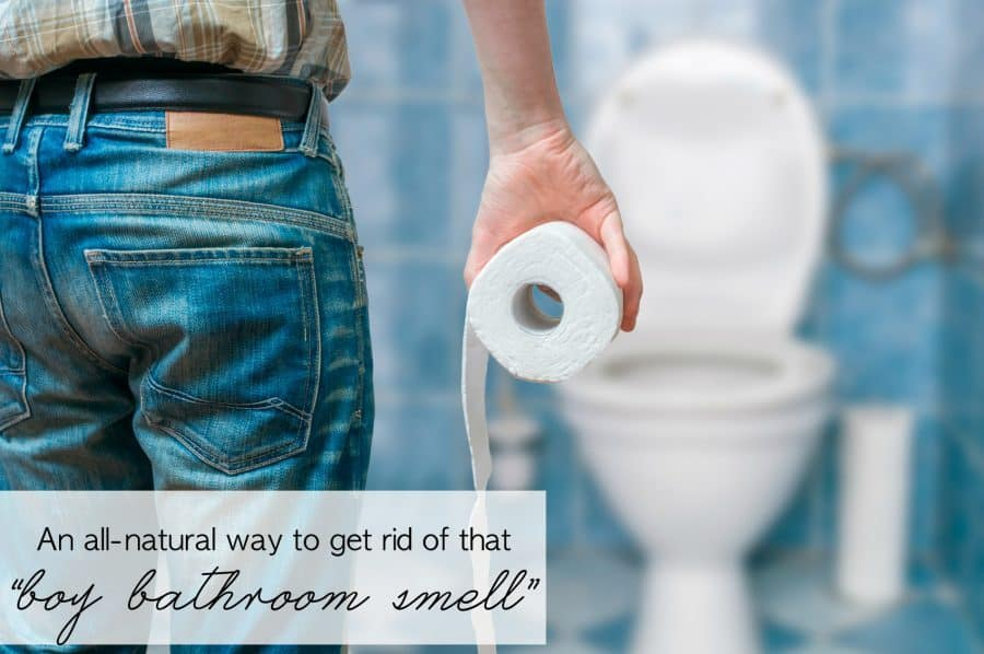 "An all natural way to get rid of that ""boy bathroom smell"" 