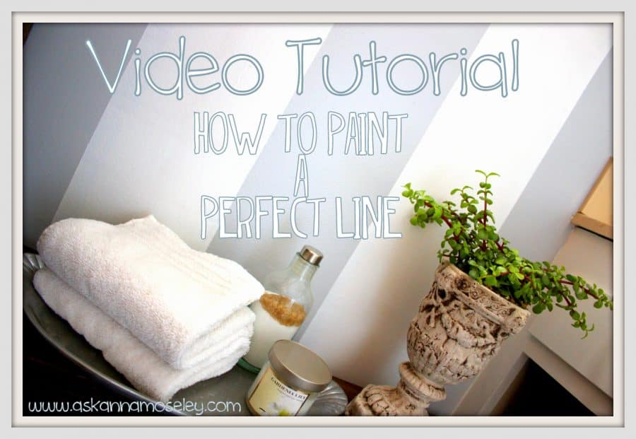 A step-by-step video tutorial for how to paint a perfect line | Ask Anna