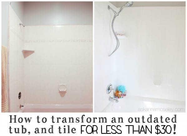 A tutorial for how to update an ugly, outdated tub and shower | Ask Anna