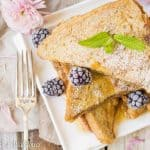 Thick crusty bread stuffed with cookie butter then dipped in a vanilla egg mixture. This cookie butter stuffed French toast is deliciously indulgent, perfect for brunch and special occasions like Mother's Day!   Cooking with a Wallflower