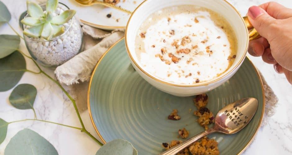 Maple Pumpkin Almond Oatmeal Latte