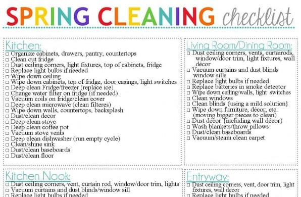 Spring Cleaning Checklists To Get You Motivated  Ask Anna
