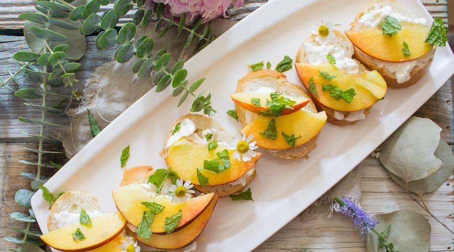 Peach Burrata Toast