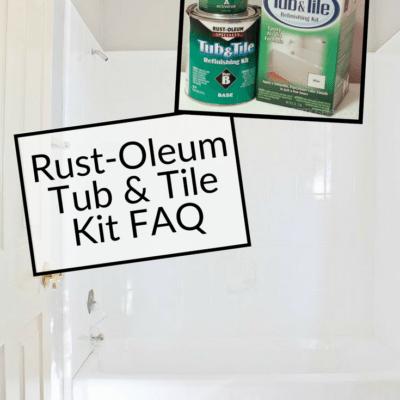 Rust-Oleum Tub and Tile Transformation FAQ